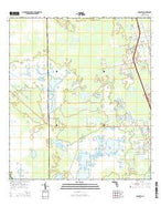 Aurantia Florida Current topographic map, 1:24000 scale, 7.5 X 7.5 Minute, Year 2015 from Florida Map Store