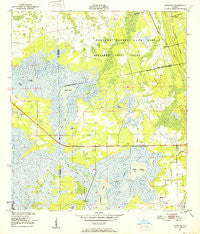 Aurantia Florida Historical topographic map, 1:24000 scale, 7.5 X 7.5 Minute, Year 1950