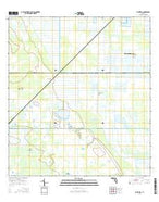 Bluefield Florida Current topographic map, 1:24000 scale, 7.5 X 7.5 Minute, Year 2015 from Florida Map Store