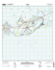 Boca Chica Key Florida Current topographic map, 1:24000 scale, 7.5 X 7.5 Minute, Year 2015 from Florida Maps Store