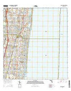 Boca Raton Florida Current topographic map, 1:24000 scale, 7.5 X 7.5 Minute, Year 2015 from Florida Map Store