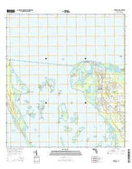 Bokeelia Florida Current topographic map, 1:24000 scale, 7.5 X 7.5 Minute, Year 2015 from Florida Map Store