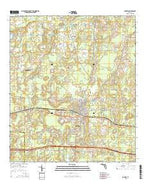 Bonifay Florida Current topographic map, 1:24000 scale, 7.5 X 7.5 Minute, Year 2015 from Florida Map Store