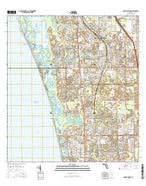 Bonita Springs Florida Current topographic map, 1:24000 scale, 7.5 X 7.5 Minute, Year 2015 from Florida Map Store