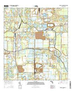 Bradley Junction Florida Current topographic map, 1:24000 scale, 7.5 X 7.5 Minute, Year 2015 from Florida Map Store