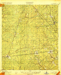 Cambon Florida Historical topographic map, 1:62500 scale, 15 X 15 Minute, Year 1918
