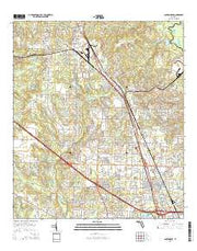 Cantonment Florida Current topographic map, 1:24000 scale, 7.5 X 7.5 Minute, Year 2015 from Florida Maps Store