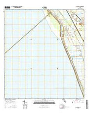 Chancy Bay Florida Current topographic map, 1:24000 scale, 7.5 X 7.5 Minute, Year 2015 from Florida Maps Store