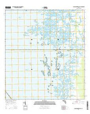 Chassahowitzka Bay Florida Current topographic map, 1:24000 scale, 7.5 X 7.5 Minute, Year 2015 from Florida Maps Store