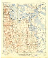 Citra Florida Historical topographic map, 1:62500 scale, 15 X 15 Minute, Year 1895