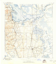 Citra Florida Historical topographic map, 1:62500 scale, 15 X 15 Minute, Year 1893