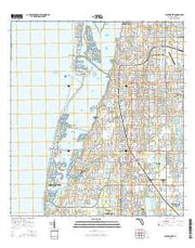 Clearwater Florida Current topographic map, 1:24000 scale, 7.5 X 7.5 Minute, Year 2015 from Florida Maps Store