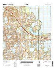 Clermont East Florida Current topographic map, 1:24000 scale, 7.5 X 7.5 Minute, Year 2015 from Florida Maps Store