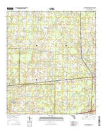 Cottondale West Florida Current topographic map, 1:24000 scale, 7.5 X 7.5 Minute, Year 2015 from Florida Map Store