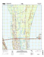Courtenay Florida Current topographic map, 1:24000 scale, 7.5 X 7.5 Minute, Year 2015 from Florida Map Store