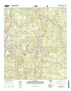 Crawfordville East Florida Current topographic map, 1:24000 scale, 7.5 X 7.5 Minute, Year 2015 from Florida Map Store