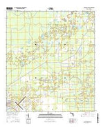 Cross City East Florida Current topographic map, 1:24000 scale, 7.5 X 7.5 Minute, Year 2015 from Florida Map Store