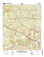 Cypress Florida Current topographic map, 1:24000 scale, 7.5 X 7.5 Minute, Year 2015 from Florida Map Store