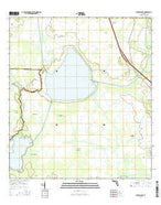 Cypress Lake Florida Current topographic map, 1:24000 scale, 7.5 X 7.5 Minute, Year 2015 from Florida Map Store