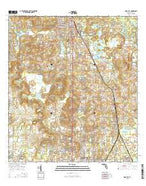Dade City Florida Current topographic map, 1:24000 scale, 7.5 X 7.5 Minute, Year 2015 from Florida Map Store