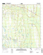 Deer Park Florida Current topographic map, 1:24000 scale, 7.5 X 7.5 Minute, Year 2015 from Florida Map Store