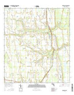 Deer Park NW Florida Current topographic map, 1:24000 scale, 7.5 X 7.5 Minute, Year 2015 from Florida Map Store
