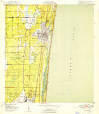 Delray Beach Florida Historical topographic map, 1:24000 scale, 7.5 X 7.5 Minute, Year 1950