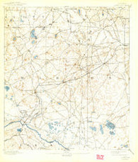 Dunnellon Florida Historical topographic map, 1:62500 scale, 15 X 15 Minute, Year 1894