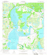 Emeralda Island Florida Historical topographic map, 1:24000 scale, 7.5 X 7.5 Minute, Year 1966
