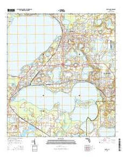 Eustis Florida Current topographic map, 1:24000 scale, 7.5 X 7.5 Minute, Year 2015 from Florida Maps Store