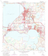 Eustis Florida Historical topographic map, 1:24000 scale, 7.5 X 7.5 Minute, Year 1966