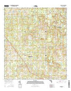 Fairfield Florida Current topographic map, 1:24000 scale, 7.5 X 7.5 Minute, Year 2015 from Florida Map Store