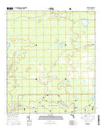 Fairview Florida Current topographic map, 1:24000 scale, 7.5 X 7.5 Minute, Year 2015 from Florida Map Store
