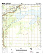 Fisheating Bay Florida Current topographic map, 1:24000 scale, 7.5 X 7.5 Minute, Year 2015 from Florida Map Store