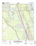 Flagler Beach West Florida Current topographic map, 1:24000 scale, 7.5 X 7.5 Minute, Year 2015 from Florida Map Store