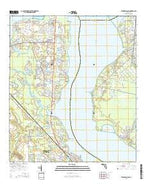 Fleming Island Florida Current topographic map, 1:24000 scale, 7.5 X 7.5 Minute, Year 2015 from Florida Map Store