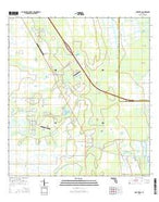 Fort Drum Florida Current topographic map, 1:24000 scale, 7.5 X 7.5 Minute, Year 2015 from Florida Map Store