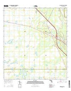 Fort Drum NW Florida Current topographic map, 1:24000 scale, 7.5 X 7.5 Minute, Year 2015 from Florida Map Store