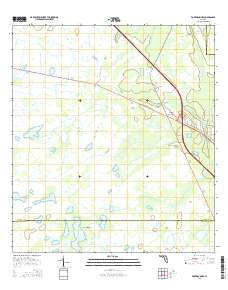 Buy topo map Fort Drum NW FL, 2015 – YellowMaps Map Store