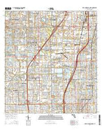 Fort Lauderdale North Florida Current topographic map, 1:24000 scale, 7.5 X 7.5 Minute, Year 2015 from Florida Map Store