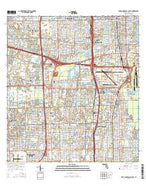 Fort Lauderdale South Florida Current topographic map, 1:24000 scale, 7.5 X 7.5 Minute, Year 2015 from Florida Map Store