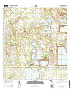 Fort Lonesome Florida Current topographic map, 1:24000 scale, 7.5 X 7.5 Minute, Year 2015 from Florida Map Store
