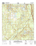 Fort McCoy Florida Current topographic map, 1:24000 scale, 7.5 X 7.5 Minute, Year 2015 from Florida Map Store