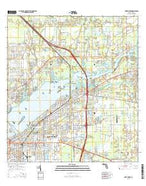 Fort Myers Florida Current topographic map, 1:24000 scale, 7.5 X 7.5 Minute, Year 2015 from Florida Map Store