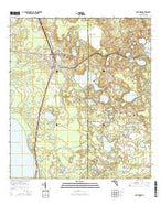 Hawthorne Florida Current topographic map, 1:24000 scale, 7.5 X 7.5 Minute, Year 2015 from Florida Map Store