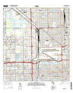Hialeah Florida Current topographic map, 1:24000 scale, 7.5 X 7.5 Minute, Year 2015 from Florida Map Store