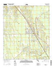 Hilliard Florida Current topographic map, 1:24000 scale, 7.5 X 7.5 Minute, Year 2015 from Florida Maps Store