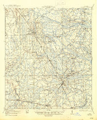 Hilliard Florida Historical topographic map, 1:62500 scale, 15 X 15 Minute, Year 1919