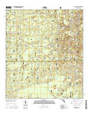 Hilliardville Florida Current topographic map, 1:24000 scale, 7.5 X 7.5 Minute, Year 2015 from Florida Maps Store