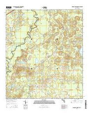 Hinsons Crossroads Florida Current topographic map, 1:24000 scale, 7.5 X 7.5 Minute, Year 2015 from Florida Maps Store